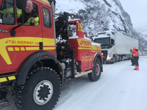 Hentet trailer: Viking hentet fredag ettermiddag traileren fra E45 Kløfta.
