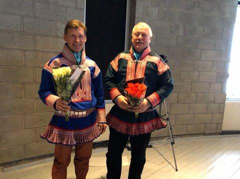 VALGT: Hans Isak Olsen (til høyre) ble torsdag valgt som ny ordfører i Kautokeino. Isak Ole Hætta ble valgt som ny varaordfører.