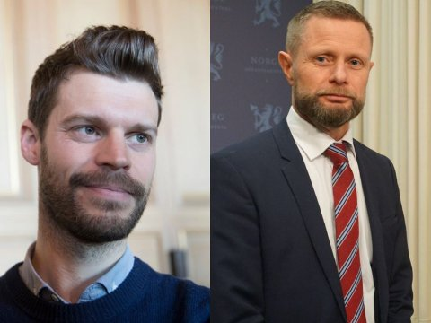 STILTE SPØRSMÅL: Bjørnar Moxnes i Rødt stilte helseminister Bent Høie flere kritiske spørsmål om luftambulansetjenesten under Stortingets spørretime onsdag.