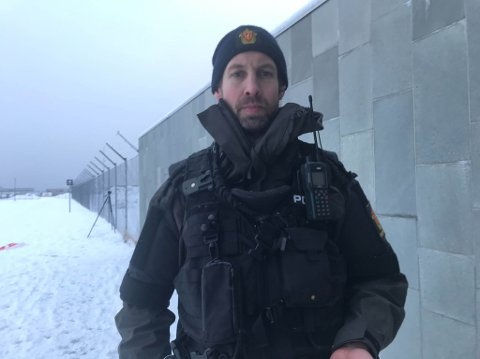 PÅGREPET: Den pågrepne mannen er ikke mistenkt for bombetrusselen, ifølge Anders Bjørke Olssen.