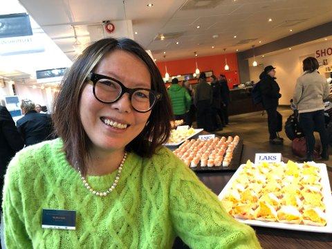 LUNSJ: Blant annet Sushi, med laks fra Finnmark, sto på menyen under NHO-konferansen fredag.