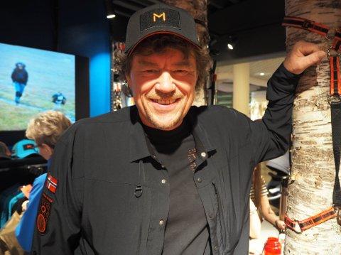 VAR MED PÅ ÅPNING: Lars Monsen var på plass da hans andre butikk åpnet på Amfi i Alta 7. juni.