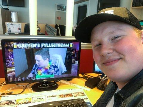 HOT PÅ NETT: Patrick Nicholas Jakobsen Greve eller bare Greven er kjendis på Internett. Foto: Trond Ivar Lunga