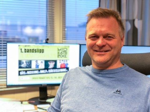 SPENT: Sten Rune Pettersen kaller sommerens festival en suksess og ser fram til mange nye år med Midnattsrocken.