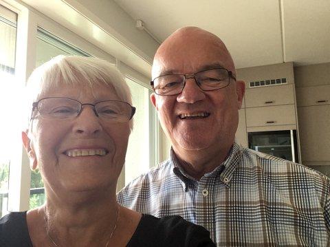 Det glade sentrumsliv: For Bjarne Jr Thomassen (70) og Greta Bjørkli (74) gir ny leilighet en lettere hverdag i sentrum Alta.