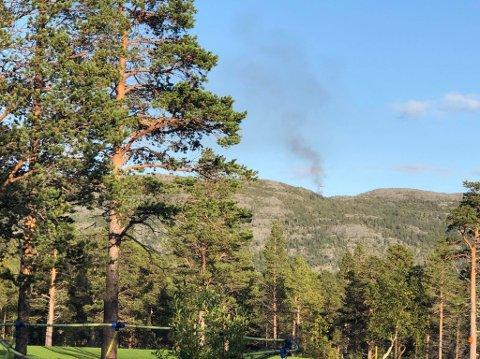 HAVARERTE: Helikopteret havarerte ved Kvenvik.