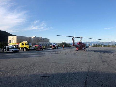 ULYKKE: Lørdag ettermiddag styrtet et helikopter tilhørende Helitrans utenfor Alta.