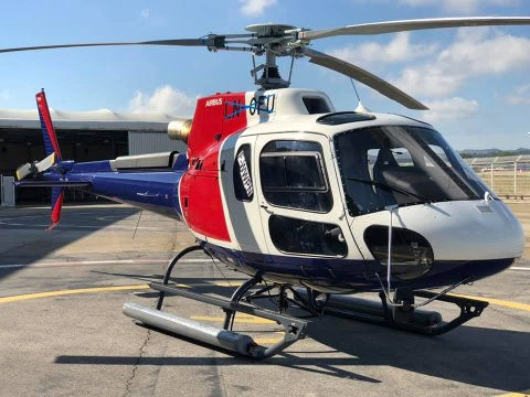 ULYKKESHELIKOPTERET: Dette er helikopteret som styrtet i Alta lørdag. Søndag flyr ikke Helitrans .