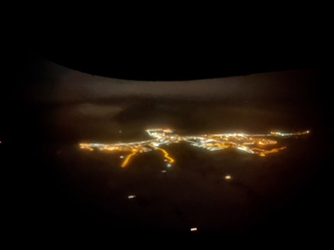 Vadsø by night.
