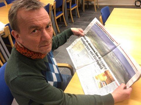 IKKE BEHOV: Varaordfører Odd Erik Solbakk i Tana mener det er all grunn til å stille spørsmål om det er behov for den gigantiske vindparken som er planlagt nordvest for Rásttigáisá.