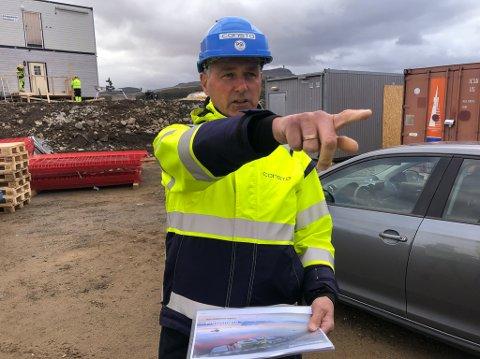 SMITTE: daglig leder hos Hammerfest Entreprenør, Rolf Johnny Nilsen, har opplevd 23 smittetilfeller på byggeplassen den siste tiden.