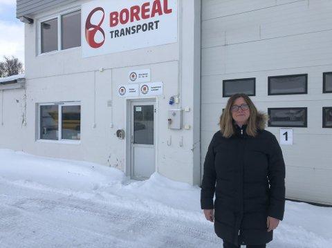 STENGTE DØRER: Verkstedet til Boreal i Lakselv har nå stengt dørene og seks har blitt permittert, deriblant verkstedsleder Mariann Tveide Forsberg.