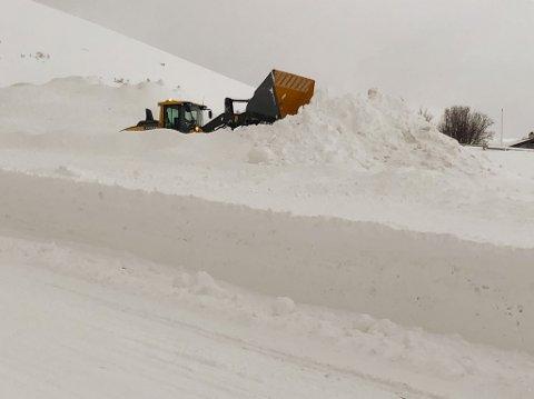SNØEN KOMMER IKKE: De enorme snømengdene som landet i Hammerfest i fjor vinter må man se langt etter, skal man tro meteorologen.
