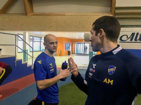 BLE LURT: Markedssef Andreas Markussen (til høyre) i Alta IF ble mandag lurt av Hans Norbye (bildet) og Morten Gamst Pedersen.