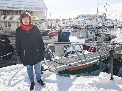 BER OM FORTGANG: Fylkesråd Kristina Hansen opplyser at de har bedt Finnasdepartementet løse opp i floken om momskompensasjon for store havneprosjekt.