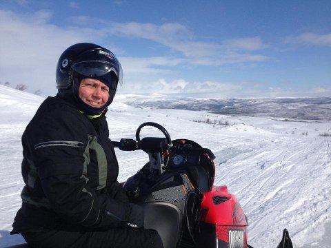 SCOOTERDEBATT OM SOMMEREN: Det ser ordfører Aina Borch i Porsanger frem til. Dette bildet er tatt når sesongen er litt mer velegnet til å bruke scooterløypene i Porsanger, som man nå ønsker å utvide fra 621 til 753 kilometer.