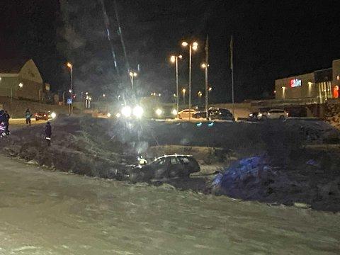 RYKKET UT: Brukeren av bilen hadde trolig glemt å sette på håndbrekket.