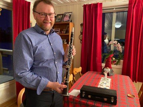 ENDELIG: Ulf Ballo har spilt mye på klarinetten i juletiden.