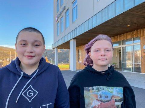 STILLER SPØRSMÅL: Det er mange ganger at folk bare er stygge mot andre på nettet mens de er greie ellers. Hvorfor er det sånn? spør Johan Opdahl (12) og Isabella Sjøgren Arlar (12).