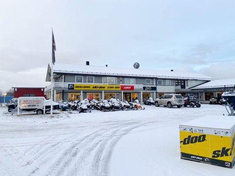 BLIR FOR LITE: Ski-doo Senteret AS skal beholde dagens lokalitet, men det er i hovedsak verkstedet som skal benyttes som det blir gjort i dag i framtiden.