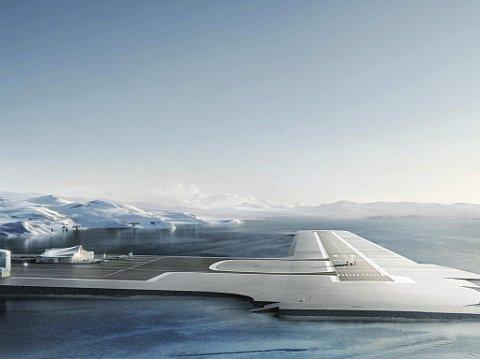 IKKE PÅ NTP: Ny flyplass på Grøtnes kom ikke med i Nasjonal Transportplan for perioden 2022 til 2033. Illustrasjon