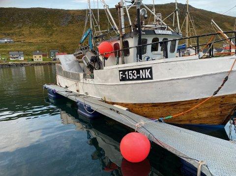 MK Blåfjell sank like utenfor Skarsvåg onsdags formiddag.
