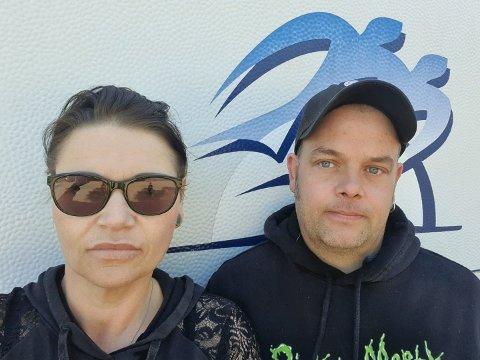 BORTE VEKK: Da Kenneth Thulin (36), her fotografert med kona,  Lise Marie Thulin, kom ut av Kiwi på Borgenhaugen var bilen borte.