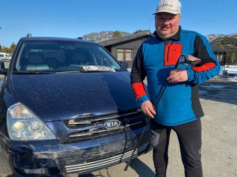 FIKK IKKE SLÅTT NOEN SLAG: Den ivrige golferen Hans-Petter Hillestrøm måtte se at en god dag for golf gikk i vasken, for noen stjal bilen hans da han skulle sikre seg en kaffeavtale ut sesongen.