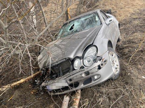 SMADRET: Bilen fikk gjennomgå.