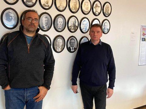 Kommuneoverlege Georges Nasr og ordfører Svein Atle Somby i Karasjok
