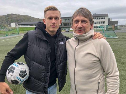 """STOLT AV SØNNEN: Rudolf """"Doffen"""" Pedersen er veldig stolt av sønnen Marcus. Foto: Trond Ivar Lunga"""