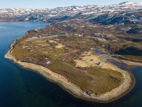 FABRIKK: Her på Markoppneset i Hammerfest kommune, vil Horisont Energi bygge Europas største ammoniakkfabrikk.