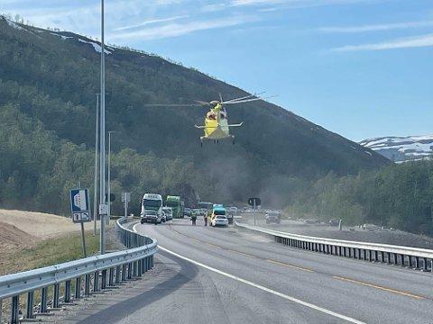 En person er sendt til UNN etter kræsj i tunell i Alta.