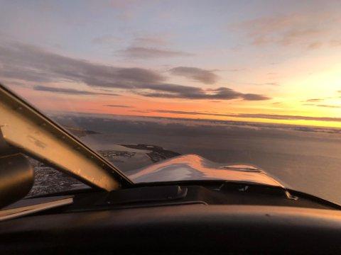 UTSIKT: Flyklubben holdt det gående helt fra 1972 og inntil nylig, og fikk blant annet med seg utsikter som dette over Vadsø.