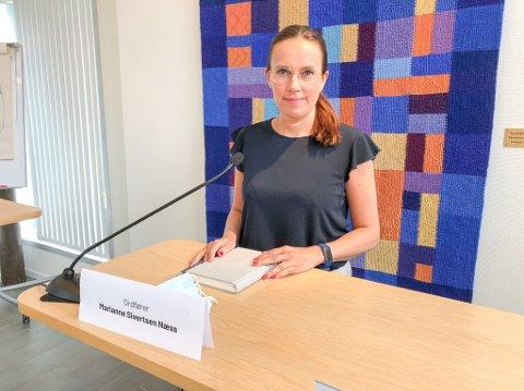 INFORMERTE: Ordfører Marianne Sivertsen Næss informerte om smittesituasjonen i Hammerfest. Foto: Trond Ivar Lunga