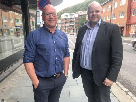 BLIR KOLLEGER: Fred Johansen (til høyre) begynner hos Privatmegleren etter nyttår. Foto: Trond Ivar Lunga