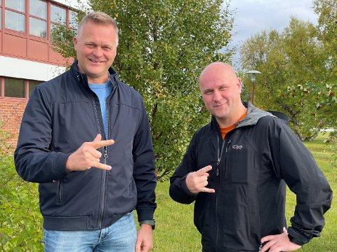 GOD KOMBO: Styreleder for Midnattsrocken, Sten Rune Pettersen, sammen med den nye festivalsjefen, Stian Labahå.