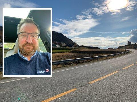 Stig Aksel Johansen (innfelt) i Bunker Oil as har søkt Nordkapp kommune om å få etablere næring på tomten ved Førstevannet.