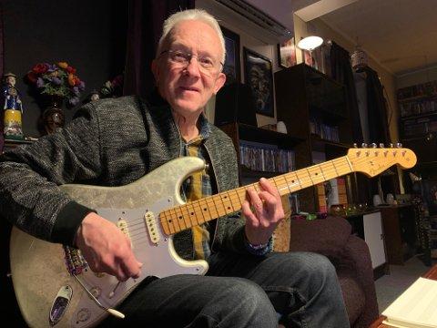 ENDA MER PÅ GANG: – Musikken bare kommer, og jeg har mitt svare strev med å ta imot fort nok, sier Ole Gunnar Nilssen (75). Nå går han i gang med sitt tiende soloalbum.