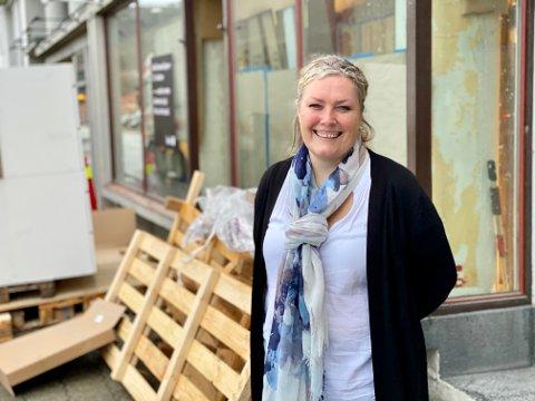KLAR: I de gamle lokalene til Teppebua og Consto åpner Barbro Agersborg kjøkkenbutikken Kvik 21. oktober.