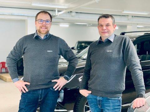 KLARE: Marius Dreyer (t.v) og Bård Sørensen er kjempeklare for å åpne dørene til Caron.