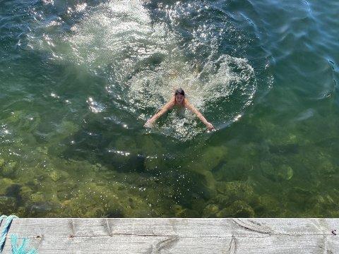 BADE? Spesielt søndag blir det varmt og fint i Harstad. Bildet er fra Kanebogen.