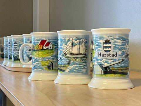 Slik ser Harstad kommunes kaffekrus ut. Vil de ta seieren?