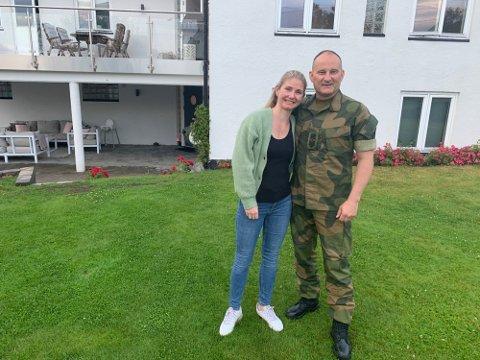 Kristian Simonsen og kona Helene trives storveis i Gluppeveien.