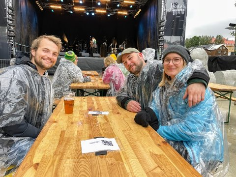 TILBAKE: Øystein Hagen Liland, Torje Pedersen og Øystein Hagen Liland var i ekstase over å være på festival.
