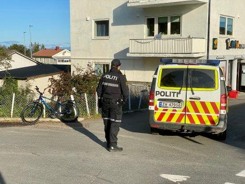 KRYSS: Det var i krysset der Trondenesveien møter Samagata, like overfor Gyda, at ulykken skjedde onsdag ettermiddag.