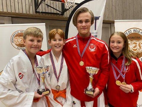Felix Strømmen, Jonatan Nysæter, Sander Fretheim Nygård og Ingrid Fretheim Nygård leverte flotte resultater i Midt-Norsk mesterskap.
