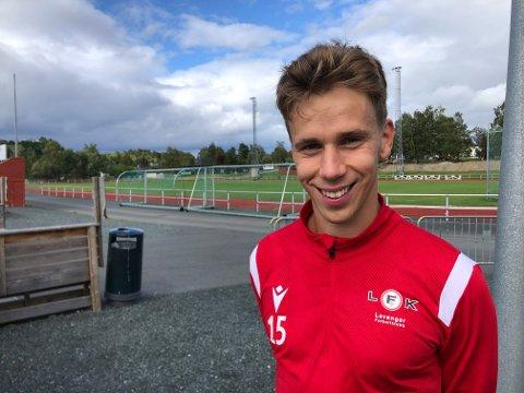 MIDTBANE: Kjartan Ulstad fra Klæbu er nykommer i årets LFK-stall.