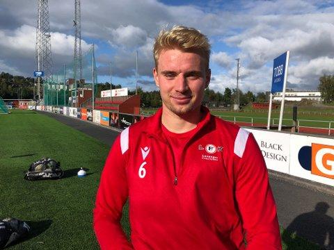 VINGBACK: Simen Hagbø har spilt for Levanger FK siden 2020-sesongen.