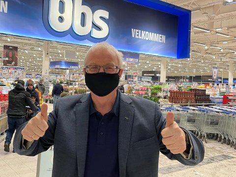 JUBLER: Administrerende direktør i Coop Midt-Norge, Torbjørn Skei, jubler over omsetningsøkning og rekordstort medlemsutbytte.